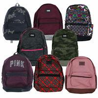 Victoria's Secret Pink Backpack Campus Bookbag School Bag Pockets Zip New Nwt Vs