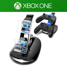LED Light Dual Controller Charging Dock Station Charger for Microsoft Xbox One
