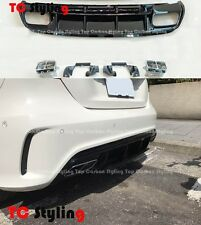 A45 AMG Style Rear Diffuser Kit For Mercedes W176 A Class AMG