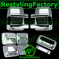 08-14 Ford Super Duty Chrome Mirror+4 Door Handle w/o PSG Keyhole+Tailgate Cover