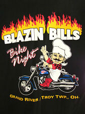 BLAZIN BILL's Bike Night motorcycle T shirt small Ohio Harley-Davidson TROY chef