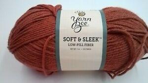 1 Skein Yarn Bee Soft & Sleek 100% Low-Pill Acrylic Fiber Yarn Spice Color