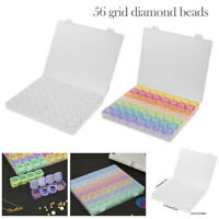 56 Grid Diamond Painting Nail Art Tool Jewelry Rhinestone Plastic Storage Boxes
