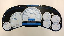 03 04 05 Silverado Sierra Tahoe Custom White Gauge Face Overlay add Trans Temp