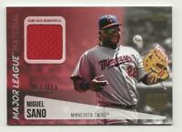 2019 Topps Series 2 MIGUEL SANO ML Material Relic 150th 050/150 Twins Jersey