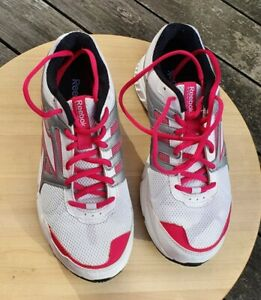 Reebok Running Trainers White Grey Pink DMX Ride For Women Size UK 5 059503-413