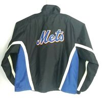 Majestic Mens Size XL Jacket New York Mets Full Zip Stitched Spellout