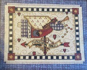 Dimensions Guardian Angel Weather Vane Cross Stitch Kit #72283 Debbie Mumm 1995