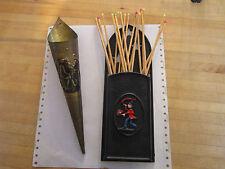 Vintage,retro match stick holders,fireplace accesory,cast iron,brass embossed