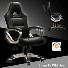 IntimaTe WM Heart (B01I4GSEP4) Executive Racing Gaming Office Chair PU Leather - Black