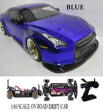 NISSAN GT-R Fully Custom 1/10 Scale Remote Control On-road  Drift Car blue