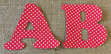 Red Polka Dot Iron On Letters & Numbers
