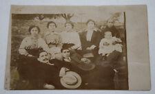 FOTOGRAFIA ANTIGUA GRUPO DE PERSONAS EN HELLIN ALBACETE, PRINCIPIOS SIGLO XX