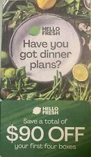 $90 OFF - HELLO FRESH Voucher for the First Customer