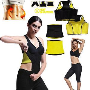 Neoprene Hot Body Shapers Sweat Sauna Pant Yoga Vest Gym Slimming Waist Pants UK