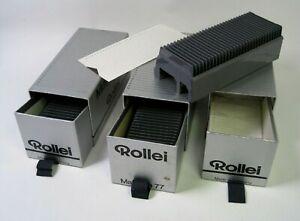 "Lot (3) ROLLEI MAGAZIN 77 Slide Trays Holds 30 Slides Each 2¾"" x 2¾"" Unused VGC!"