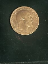 More details for 1903 edwardian one penny. authentic highly collectible antique coin
