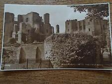 VTG Postcard KENILWORTH CASTLE Mortimers Tower WARWICKSHIRE B/W Real Photo ruins
