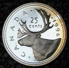 1996 CANADA 25 CENTS - QUARTER - .925 SILVER FROSTED PROOF - Nice Tone - NCC
