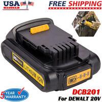 For DEWALT DCB207 20V 20 Volt Max Lithium-Ion 2.0Ah Compact Battery Pack DCB203