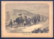 Zigeunerbegräbniß in Siebenbürgen-Sinti-Roma-Musik-Zigeuner - Holzstich 1870