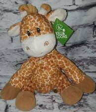 "FIRST & MAIN JERRY GIRAFFE BROWN PLUSH 9"" STUFFED ANIMAL BABY SEWN EYES CORDUROY"