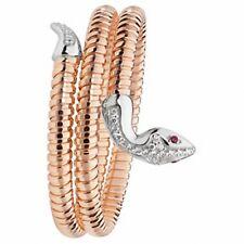 SERPENTE braccialetto argento massiccio oro rosa zircone cubico da donna 26