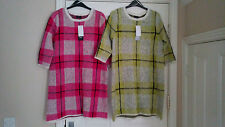 F&F - 2 X BRUSHED YARN CHECK LONG JUMPERS - SZ 10 - BNWT.