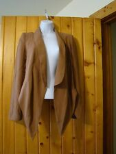 Modcloth Hommage Mocha Brown Boardroom Radiance Blazer Siz S High Low Silhouette