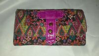 Pink floral dynamic women's wallet rectangle shape