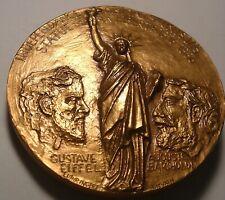 France, Medal, Statue de la Liberté, G.Eiffel - A.Bartholdi, 1986  Bronze Medal