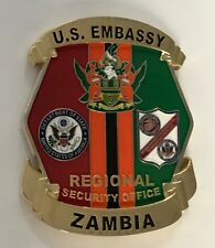 DOS Diplomatic Security Service RSO USEMB Zambia Africa 100th Anniversary