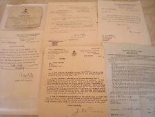 Ephemera Ex A.G.Edwards - East lancs Rgt. & Chief Constable office OFFICIAL SE.