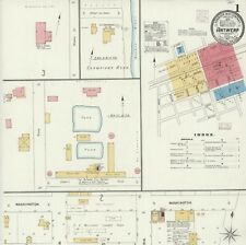 Antwerp, Ohio Sanborn map sheets in color made 1896 to 1915 in Color~10 maps