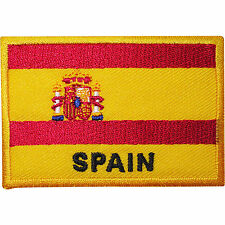 Spain Flag Embroidered Iron / Sew On Clothes Spanish Patch T Shirt Bag Hat Badge