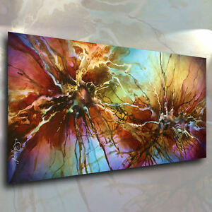 MIX LANG Expressionist Fluid ART Giclee canvas print MODERN PAINTING Contemp.