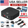 Bluetooth 5.0 Receiver Wireless 3.5mm Jack AUX NFC to 2 RCA Audio Stereo Adapter
