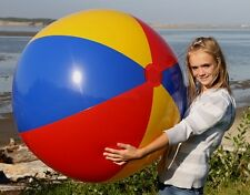 "48""  Red Blue Yellow EURO European Style Inflatable Beach Ball - Glossy Vinyl"