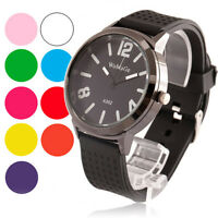 Fashion Jelly rubber kids men's boy girl quartz analog wrist watch casual hours