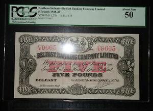 1939 £5 Belfast Banking Company Northern Ireland P-127b.2 -> C/V 9665 <- aUNC