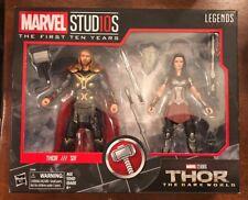 MARVEL STUDIOS First Ten Years: Thor & Sif  2 Pack dark world hasbro 10 legends