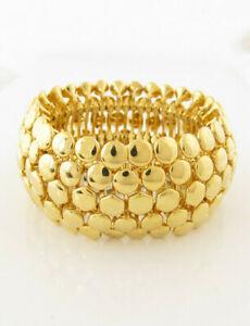 Lauren Ralph Lauren Pebble Gold Plated Wide Stretch Bracelet $78