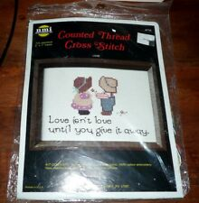 """Love isn't love until you give it away"" Counted CrossStitch kit NeedleMagic 710"