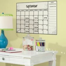 Scroll Dry Erase Calendar Peel and Stick Wall Decals