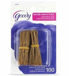 Goody Hair Pins, Brown, 100 Count