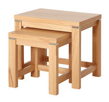 2-Satz-Tisch Beistelltisch Konsole Tisch T167 Kernbuche