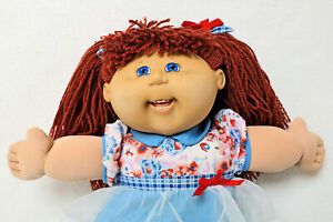 VINTAGE CABBAGE PATCH KIDS 16'' DOLL Wool Hair Jakks Pacific Play Along 2004 CPK