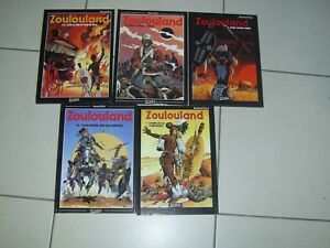 ZOULOULAND lot de 5 bd tome 1.2.3.4.5 be