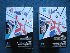 London 2012 Olympic memorabilia handheld inflatable 30cm Wenlock & Mandeville-BN