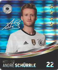 Sammelbild Nr 22 Andre SCHÜRRLE REWE Glitzer Sticker Fußball DFB EM 2016